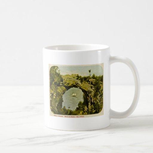Arch Rock, Mackinac Island Vintage Coffee Mugs