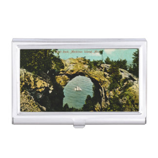 Arch Rock Mackinac Island Vintage Michigan Business Card Holders