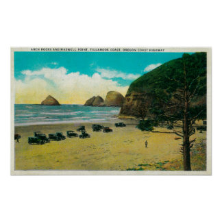 Arch Rocks and Maxwell Point Poster