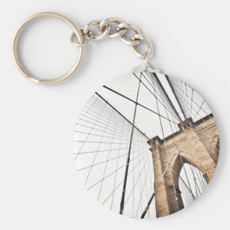 Arch Themed, A Grid Of Metal Cables Lend Support T Basic Round Button Keychain