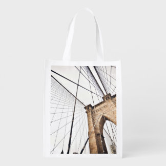 Arch Themed, A Grid Of Metal Cables Lend Support T Reusable Grocery Bags