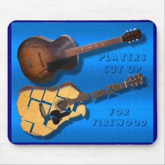 Arch top guitar -players-cut up -Flat top Guitars- Mouse Pad
