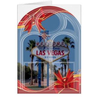 Arch Window Las Vegas Christmas Card