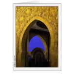 Archades árabe tarjeta de felicitación