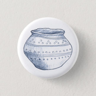 Archaeological Fragments Urn Badge Button