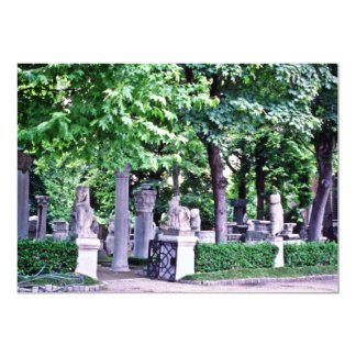 "Archaeological Gardens, Istanbul 5"" X 7"" Invitation Card"