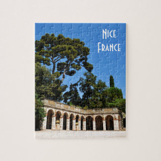 Archaeological site on top of Castle Hill in Nice Jigsaw Puzzle
