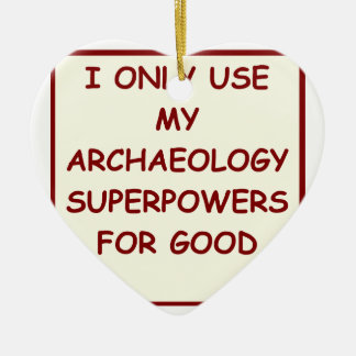 archaeologist archaeology christmas ornament