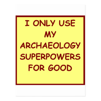 archaeologist archaeology postcard