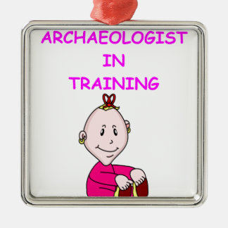 archaeologist baby christmas ornament