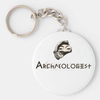 Archaeologist Basic Round Button Keychain