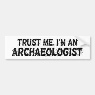 Archaeologist Car Bumper Sticker