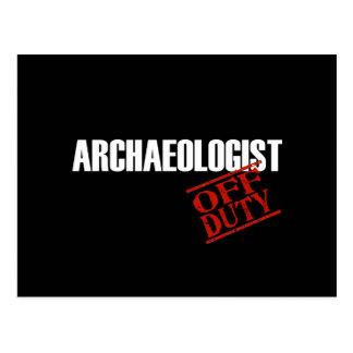 Archaeologist Dark Postcard