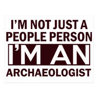 archaeologist design postcard