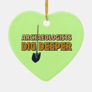 Archaeologist Dig Ceramic Ornament