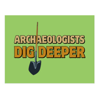 Archaeologist Dig Postcard