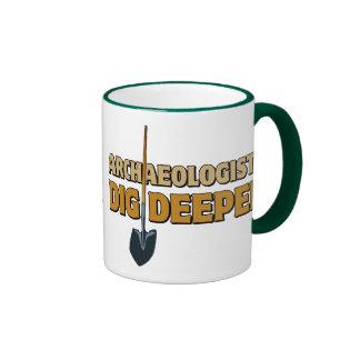 Archaeologist Dig Ringer Mug