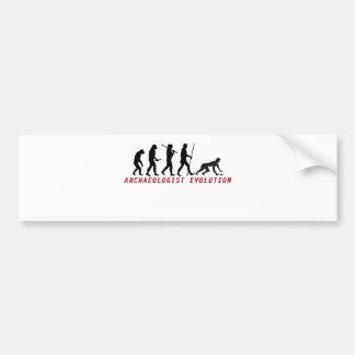archaeologist evolution bumper sticker