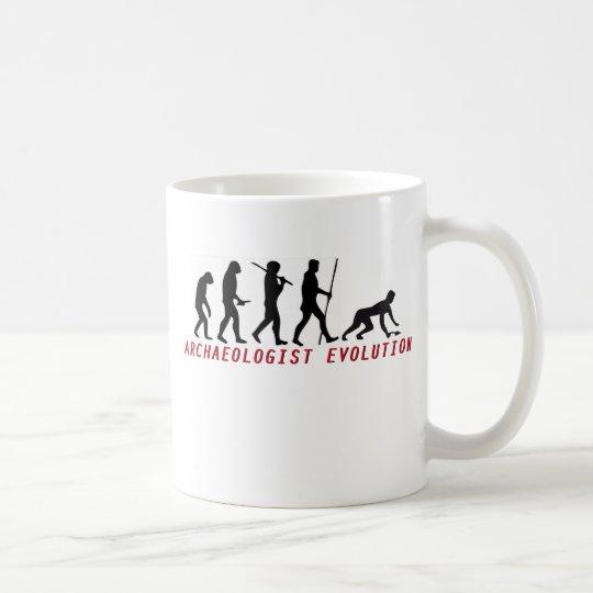 archaeologist evolution coffee mug
