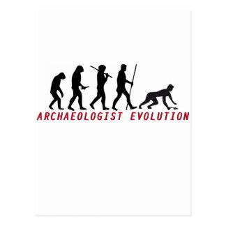 archaeologist evolution postcard