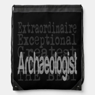 Archaeologist Extraordinaire Drawstring Bag