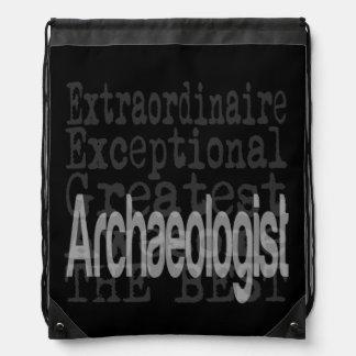 Archaeologist Extraordinaire Drawstring Bags