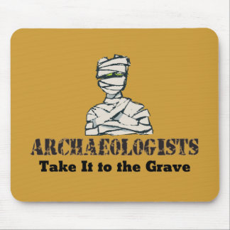 Archaeologist Grave Mouse Pad