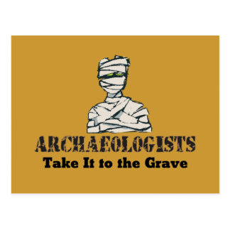Archaeologist Grave Postcard