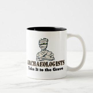 Archaeologist Grave Two-Tone Coffee Mug