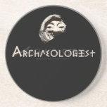 Archaeologist in Primitive Greek Letters Drink Coaster
