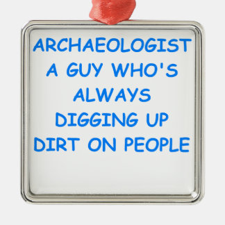 archaeologist christmas tree ornament
