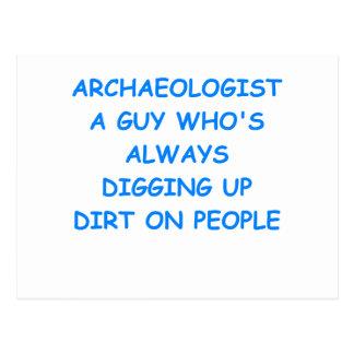 archaeologist postcard
