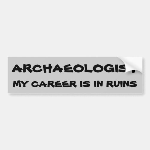 Archaeologist Pun Career In Ruins Bumper Sticker