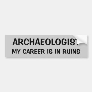 Archaeologist Pun. My Career is In Ruins Bumper Sticker