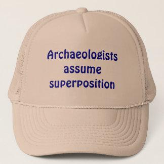 Archaeologists assume superposition trucker hat