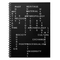 Archaeology and anthropology crossword puzzle notebook