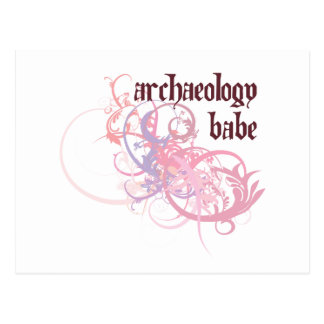 Archaeology Babe Postcard
