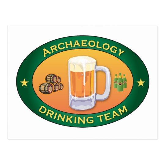 Archaeology Drinking Team Postcard