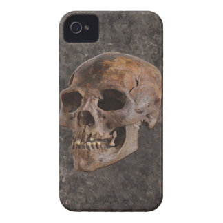 Archaeology II - Skull on Stone-effect Background iPhone 4 Cover