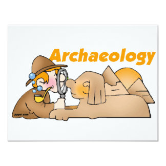 "Archaeology 4.25"" X 5.5"" Invitation Card"