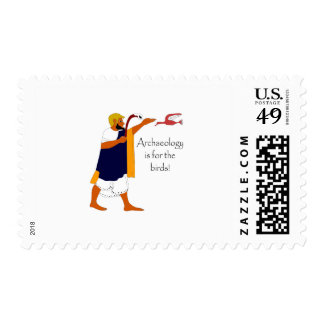 Archaeology is for the birds! postage