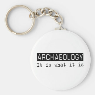 Archaeology It Is Basic Round Button Keychain