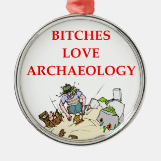 archaeology joke christmas ornament