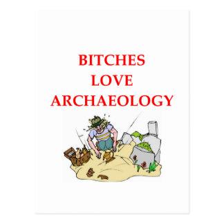 archaeology joke postcard
