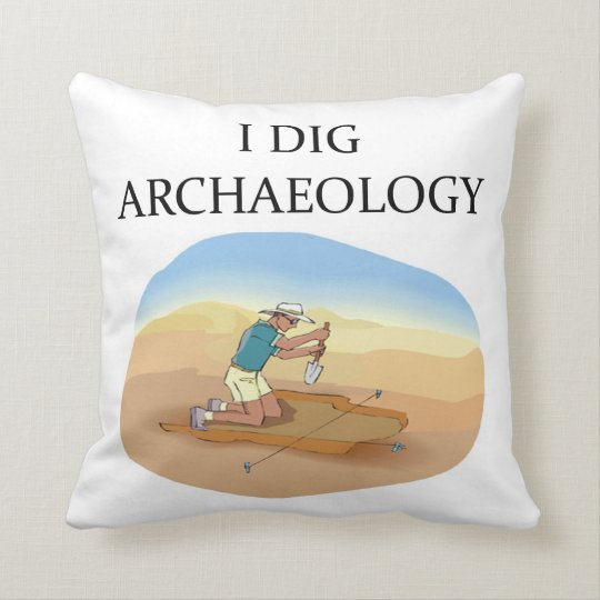 archaeology joke throw pillow