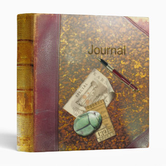 Archaeology Journal Aged Leather 3 Ring Binder