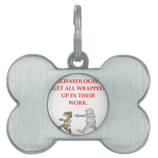 archaeology pet name tag