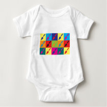 Archaeology Pop Art Baby Bodysuit
