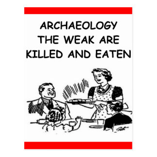 archaeology postcard