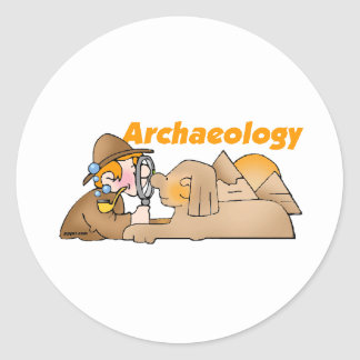 Archaeology Round Stickers